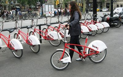 Bicing Barcelona – The red street bikes